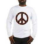 Black/Orange Peace Sign Long Sleeve T-Shirt