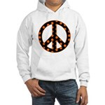 Black/Orange Peace Sign Hooded Sweatshirt