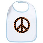 Black/Orange Peace Sign Bib