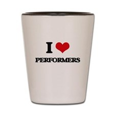 I Love Performers Shot Glass