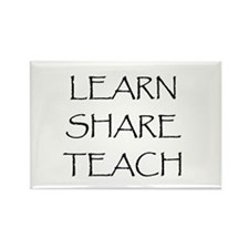 Learn Share Teach Rectangle Magnet