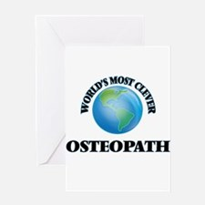 World's Most Clever Osteopath Greeting Cards