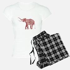 Red & White Ornate Swirls E Pajamas