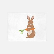 Easter Rabbit 5'x7'Area Rug