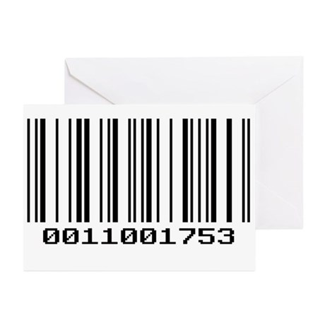 Barcode Greeting Cards (Pk of 10)