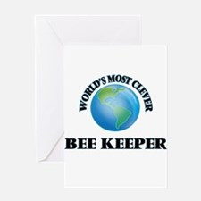 World's Most Clever Bee Keeper Greeting Cards
