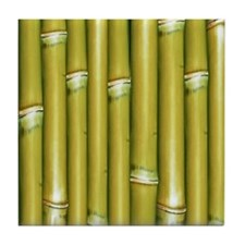 Yellow Bamboo Tile Coaster