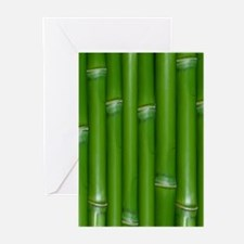 Green Bamboo Greeting Cards