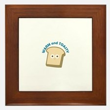 bread warm and toasty Framed Tile