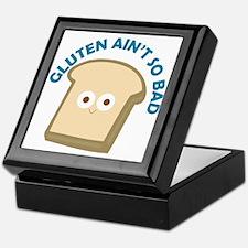 bread gluten ain t so bad Keepsake Box