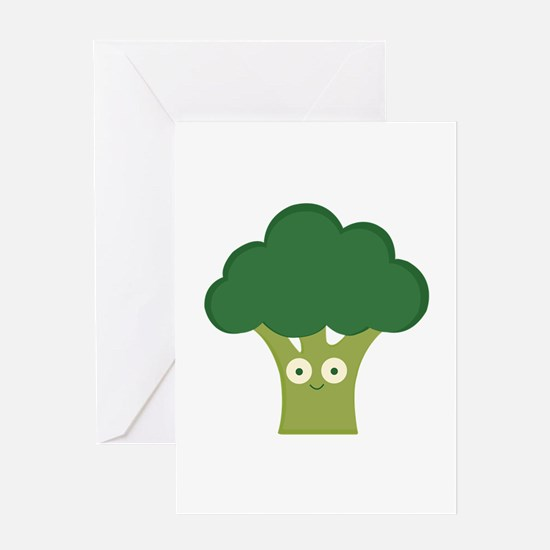 broccoli base Greeting Cards