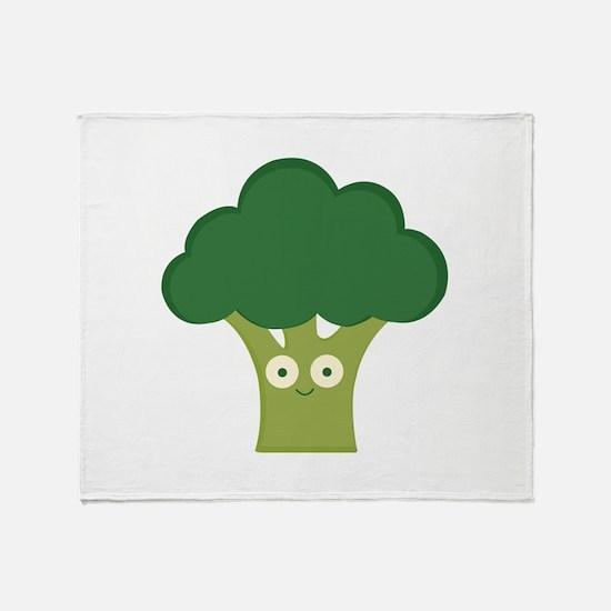 broccoli base Throw Blanket