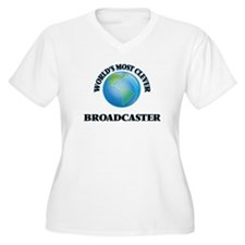 World's Most Clever Broadcaster Plus Size T-Shirt