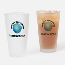 World's Most Clever Broadcaster Drinking Glass