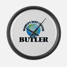 World's Most Clever Butler Large Wall Clock