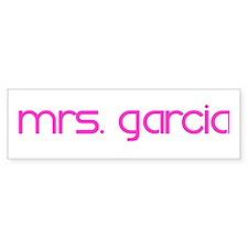 mrs. garcia Bumper Bumper Sticker