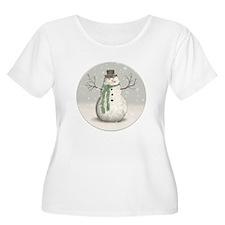 Snowman Plus Size T-Shirt
