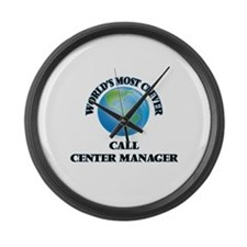 World's Most Clever Call Center M Large Wall Clock