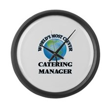 World's Most Clever Catering Mana Large Wall Clock