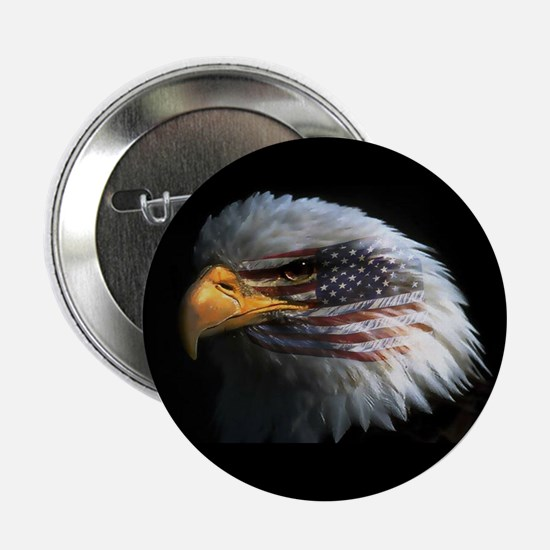 American Flag Eagle Button