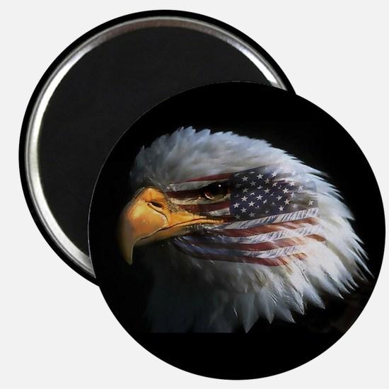 American Flag Eagle Magnet