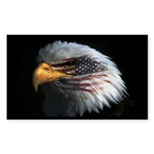 American Flag Eagle Rectangle Decal