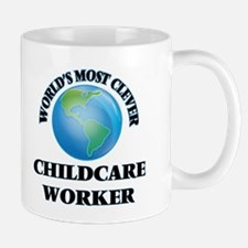 World's Most Clever Childcare Worker Mugs