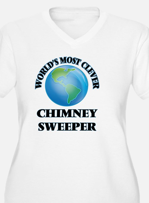 World's Most Clever Chimney Swee Plus Size T-Shirt