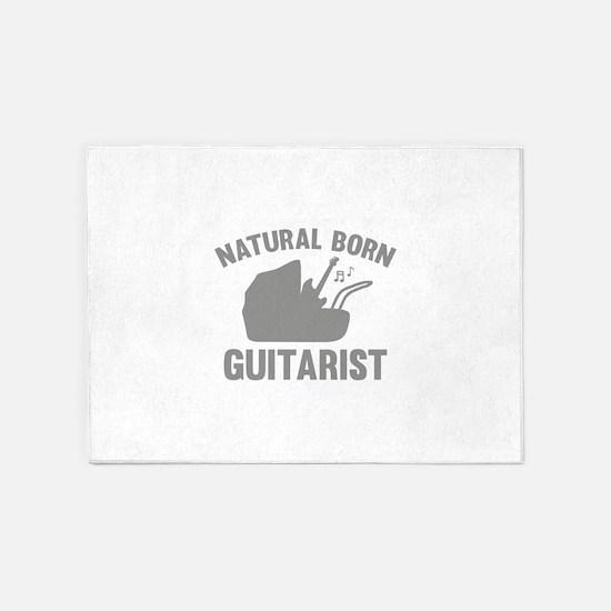Natural Born Guitarist 5'x7'Area Rug