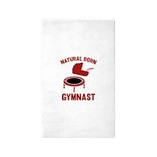 Natural Born Gymnast 3'x5' Area Rug