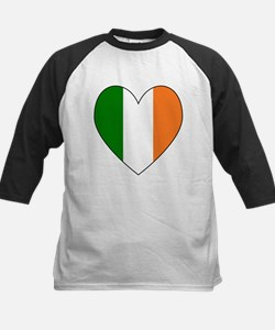 Irish Flag Heart Valentine Black B Baseball Jersey