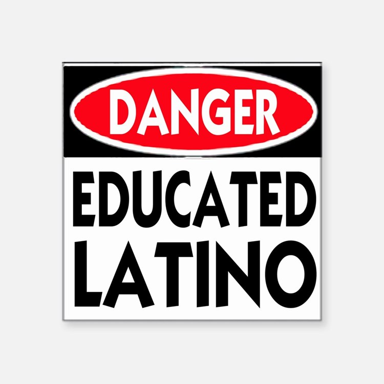"""Cute Latina educated Square Sticker 3"""" x 3"""""""