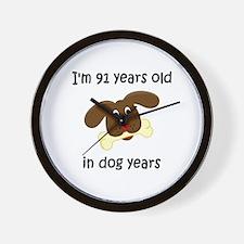 13 dog years 4 - 2 Wall Clock