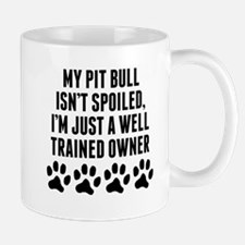 Well Trained Pit Bull Owner Mugs