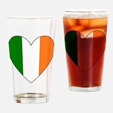 Irish Flag Heart Valentine Black Bo Drinking Glass