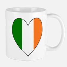 Irish Flag Heart Valentine Black Border Mugs