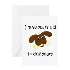 14 dog years 4 - 2 Greeting Cards
