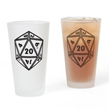 d20 Drinking Glass