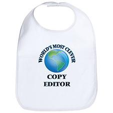 World's Most Clever Copy Editor Bib