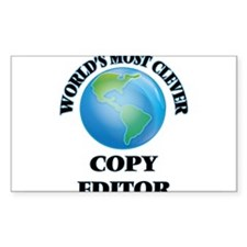 World's Most Clever Copy Editor Decal