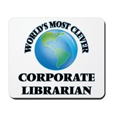 World's Most Clever Corporate Librarian Mousepad