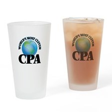 World's Most Clever Cpa Drinking Glass