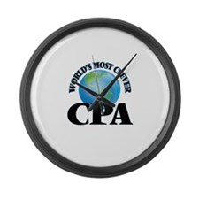 World's Most Clever Cpa Large Wall Clock