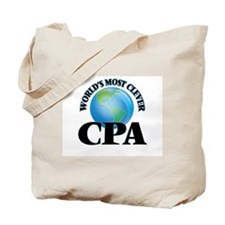 World's Most Clever Cpa Tote Bag