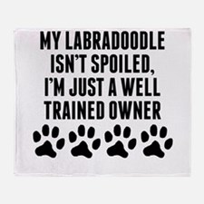 Well Trained Labradoodle Owner Throw Blanket