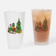 Christmas Cats Drinking Glass