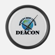 World's Most Clever Deacon Large Wall Clock