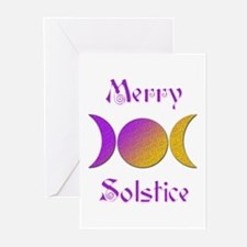 Merry Solstice 1 Greeting Cards (Pk of 10)
