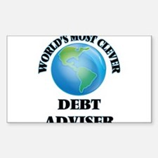 World's Most Clever Debt Adviser Decal