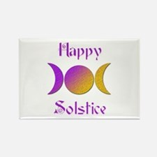Happy Solstice 4 Rectangle Magnet (100 pack)